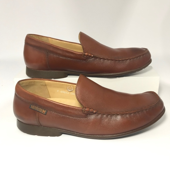 7c6c073b7a1 🌹Mephisto Air Jet Brown Leather Slip on Loafers. M 5c595974c9bf50c0aac7bc84